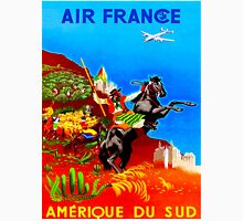 """""""AIR FRANCE"""" Vintage Fly to South America Print Unisex T-Shirt"""