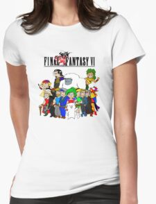 Final Fantasy 6 Characters Womens Fitted T-Shirt