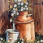 Daisies  by Margaret Harris