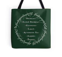 Hobbit Breakfast Schedule Tote Bag