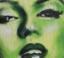 Green Marilyn at Venice Beach by depsn1