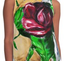 A Rose in Hand Contrast Tank