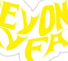 Beyond Kayfabe - Bat Letters Yellow No Outline Sticker