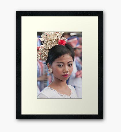 Marching Girl Framed Print