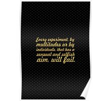 """Every experiment... """"Ralph Waldo Emerson"""" Inspirational Quote Poster"""