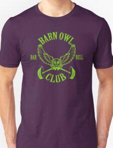 Barn Owl Barbell Club Green Unisex T-Shirt