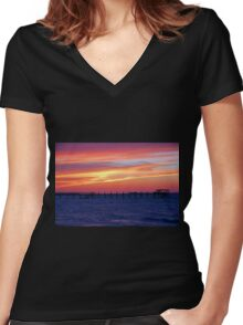 Edge of Black Women's Fitted V-Neck T-Shirt