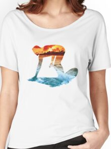 Surfing White Version Women's Relaxed Fit T-Shirt