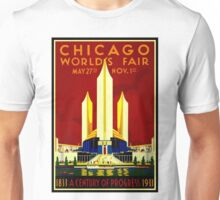 """CHICAGO WORLDS FAIR"" Vintage (1933) Advertising Print Unisex T-Shirt"