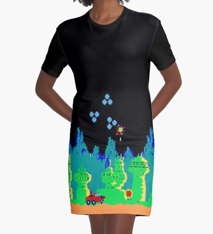 Moon Patrol  Graphic T-Shirt Dress