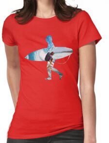 Surfer black version Womens Fitted T-Shirt