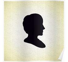 Ada Lovelace Silhouette  Poster