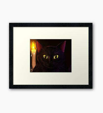 Familiar Eyes Framed Print