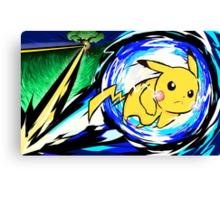 Pikachu | Volt Tackle Canvas Print