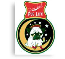 Dark Lord Pug Life Canvas Print
