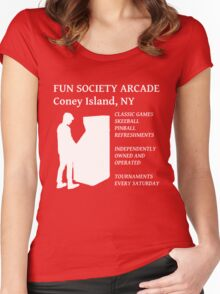 fsociety (fun society) arcade  Women's Fitted Scoop T-Shirt