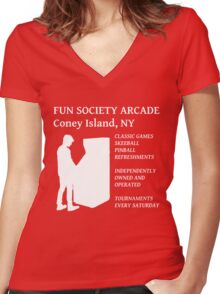 fsociety (fun society) arcade  Women's Fitted V-Neck T-Shirt
