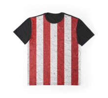 Red & White Stripes - Vertical Graphic T-Shirt