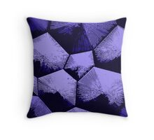 Blue, violet Tesseracts Throw Pillow