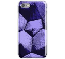 Blue, violet Tesseracts iPhone Case/Skin