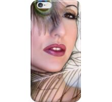 Feathered Beauty - Self Portrait iPhone Case/Skin