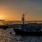 Oban Boat Sunset  by Rob Hawkins