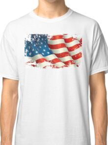 American Flag distressed  Classic T-Shirt