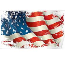 American Flag distressed  Poster