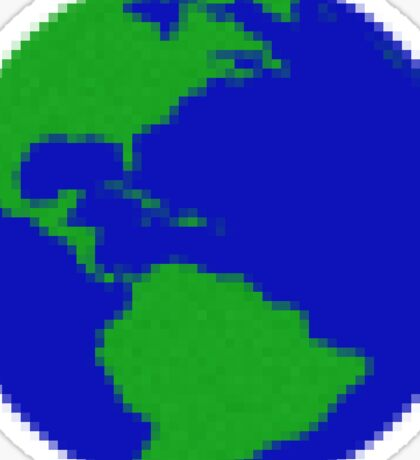 Pixelated Earth Sticker