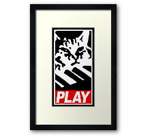 Keyboard Cat Play Framed Print