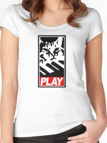 Keyboard Cat Play Women's Fitted Scoop T-Shirt