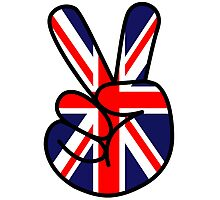 peace victory union jack sign Photographic Print