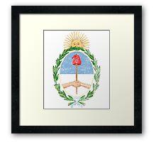 Argentinian Coat of Arms Argentina Symbol Framed Print