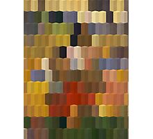 Yellow Red Blocks Geometric Art Photographic Print