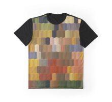 Yellow Red Blocks Geometric Art Graphic T-Shirt
