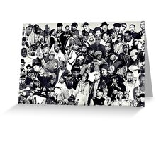 Rappers Background Greeting Card