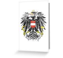 Austrian Coat of Arms Austria Symbol Greeting Card
