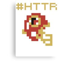Hail to the Redskins - 8 Bit Canvas Print