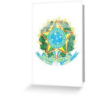 Brazilian Coat of Arms Brazil Symbol Greeting Card