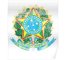 Brazilian Coat of Arms Brazil Symbol Poster