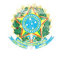 Brazilian Coat of Arms Brazil Symbol Photographic Print