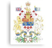 Canadian Coat of Arms Canada Symbol Canvas Print