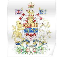 Canadian Coat of Arms Canada Symbol Poster