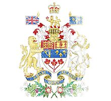 Canadian Coat of Arms Canada Symbol Photographic Print
