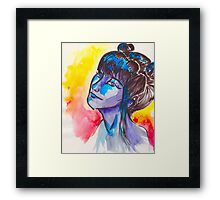Lady In The Water(Color) Framed Print