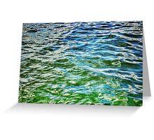 Big Cedar Lake waves - West Bend WI - CARD ONLY Greeting Card