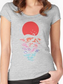 moon and fish Women's Fitted Scoop T-Shirt