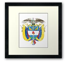 Colombian Coat of Arms Colombia Symbol Framed Print