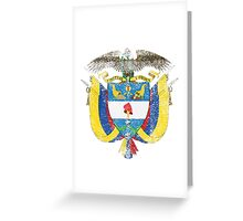 Colombian Coat of Arms Colombia Symbol Greeting Card