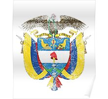 Colombian Coat of Arms Colombia Symbol Poster